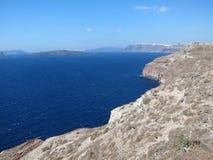 Santorini Romantische Mening Royalty-vrije Stock Foto's