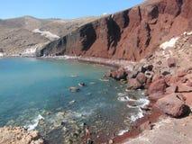 Santorini romantisk sikt royaltyfri fotografi