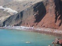 Santorini Romantyczny widok Obrazy Royalty Free