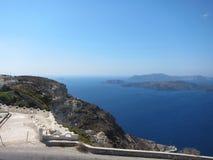 Santorini Romantyczny widok Zdjęcia Royalty Free