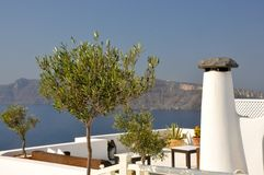 Santorini Chimney Stock Photography