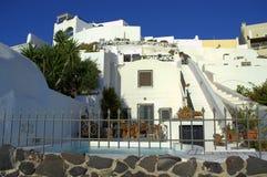 Santorini-Ruhe Stockbild