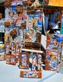 Santorini's souvenir shop in Oia town, Greece stock photography
