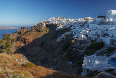 Santorini's Unique View at sunrise. Greece. Royalty Free Stock Image