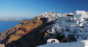 Santorini's Unique View at sunrise. Greece. Royalty Free Stock Photo