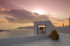 Santorini's villa Stock Photos