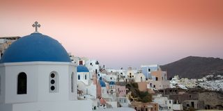 Santorini scene Royalty Free Stock Images