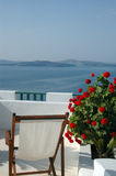 santorini sceniczny widok Zdjęcia Royalty Free
