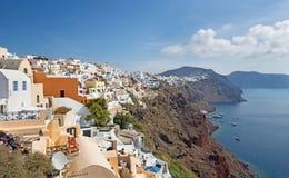 Santorini - schauen Sie von Oia zum Osten Lizenzfreies Stockfoto