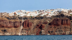 Santorini From The Sea Stock Photography