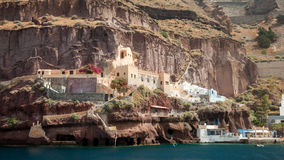 Santorini From The Sea Royalty Free Stock Photo