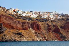 Santorini From The Sea Royalty Free Stock Photos
