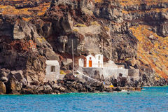 Santorini From The Sea Royalty Free Stock Photography