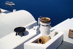 Santorini sea view Stock Photos