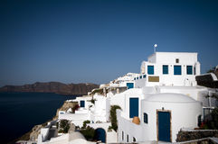 Santorini sea view with hotels Stock Images