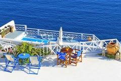 Santorini. Sea view resort in Santorini, Greece Stock Images