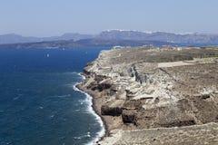 Santorini seaview Royalty-vrije Stock Foto
