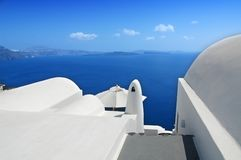 Santorini Shapes. Abstract shapes in white on Santorini, a Greek island Royalty Free Stock Photography