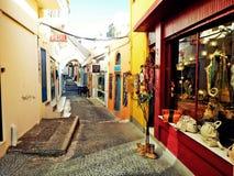 Santorini Shops Royalty Free Stock Images