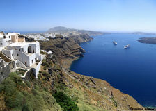 Santorini sikt Arkivbilder