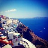 Santorini sikt Arkivfoto