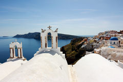 Santorini sikt Royaltyfri Fotografi