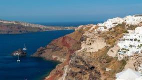 Santorini sikt Arkivfoton