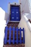 Santorini sky door. Blue door leading into the blue skies Stock Photography