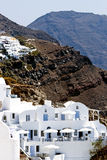 Santorini small white houses in Oia Royalty Free Stock Photography