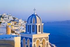 Santorini solnedgång - Grekland royaltyfri foto