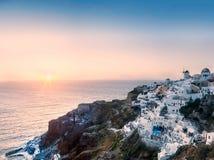 Santorini Sonnenuntergang Stockbilder