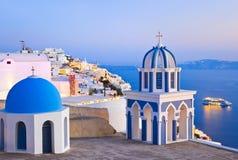 Santorini Sonnenuntergang - Griechenland stockfoto