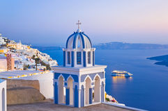 Santorini Sonnenuntergang - Griechenland lizenzfreies stockbild