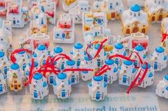 Santorini souvenir Arkivfoto