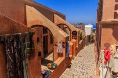 Santorini souvenir shop. Other souvenir shop at santorini royalty free stock images