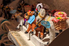 Santorini Souvenirs. Toys and souvenir of Oia at Santorini stock photo