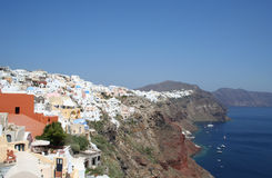 Santorini spectaculaire. Photo stock