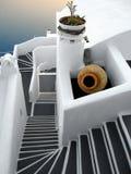 Santorini stairsway Royalty Free Stock Images