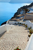 Santorini, the stairway to the sea. Santorini is an island in the southern Aegean Sea. These steps are just photogenic and beautiful Royalty Free Stock Photography