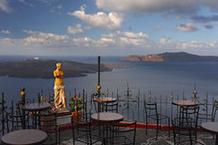 Santorini, Statue of a Nympf Royalty Free Stock Images