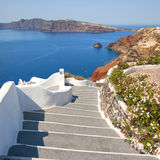 Santorini steps 02 Royalty Free Stock Photos