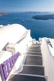 Santorini steps 03 Stock Photo
