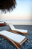 Santorini stone beach Royalty Free Stock Photography