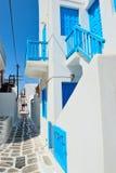 Santorini Straße Stockfotos