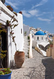Santorini street Royalty Free Stock Photo
