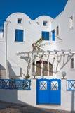 Santorini streets Stock Photo