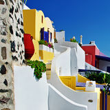 Colors of Santorini Royalty Free Stock Photography
