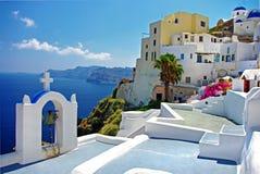 Santorini stupéfiant images stock