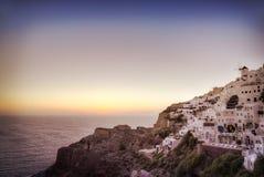 Santorini Sunsert Royalty Free Stock Images