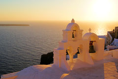 Santorini sunset Stock Image